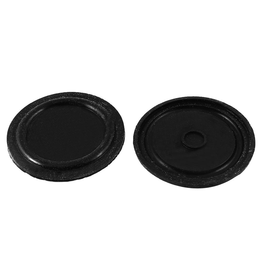 """2 Pcs 60mm 2.4"""" Dia Water Heater Diaphragms Sealing Gasket Black"""