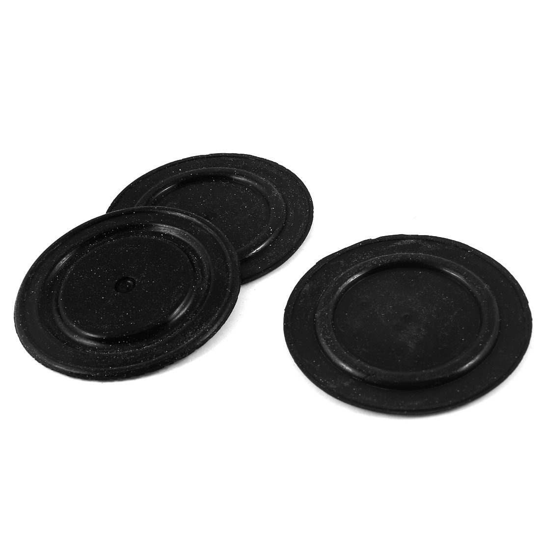 "3 Pcs 65mm 2.6"" Diameter Water Heater Diaphragms Seal Gasket Black"