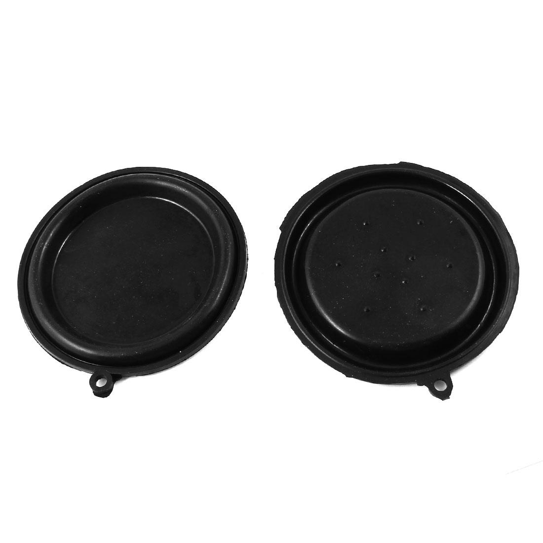 "2 Pcs 85mm 3.3"" Diameter Water Heater Diaphragms Seal Gasket Black"