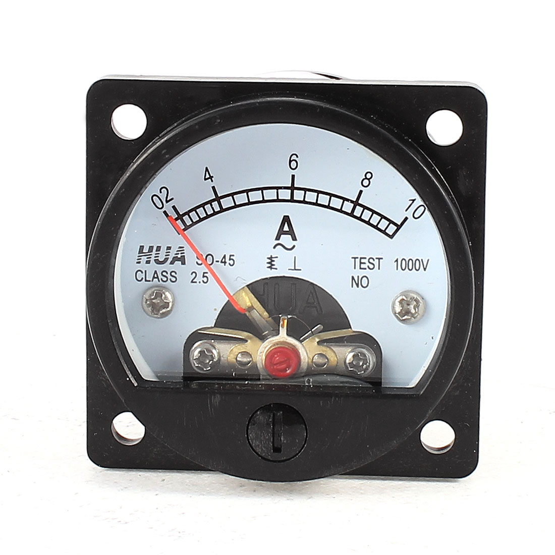 SO-45 Class 2.5 Accuracy AC 0-10A Analog Ammeter Panel Meter Black