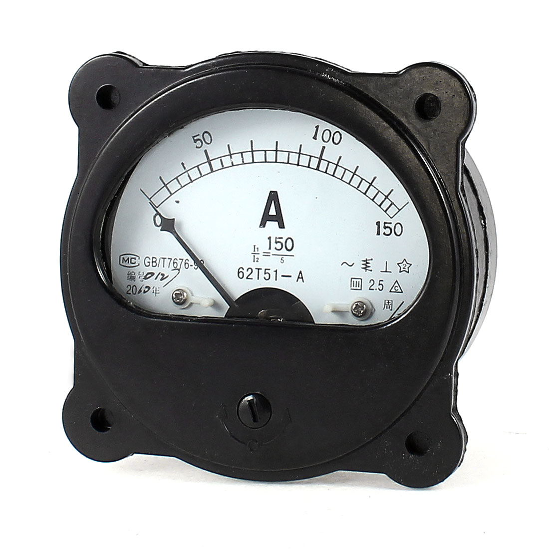 AC 0-150A Fine Tuning Dial Panel Analog Ampere Meter Amperemeter Black