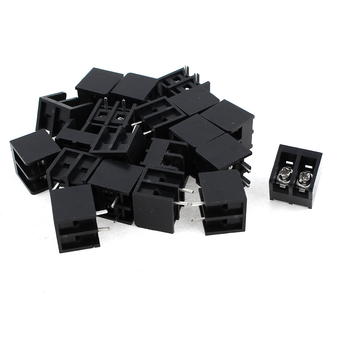 20 Pcs 2 Position PCB Mounting Screw Terminal Block Connector 300V 10A