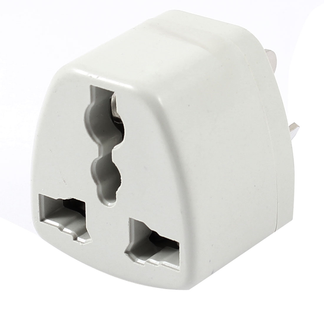 AU 3 Pin Plug to EU/US/AU 3 Pin Socket White 250VAC 10A Travel Adapter Converter