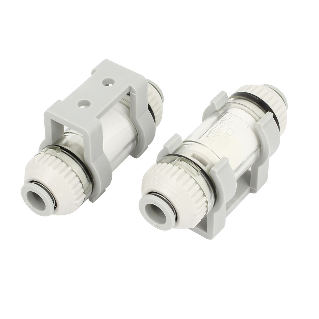 ZFC100-04B 4mm OD Tube Quick Connector In Line Vacuum Air Suction Filter 2pcs