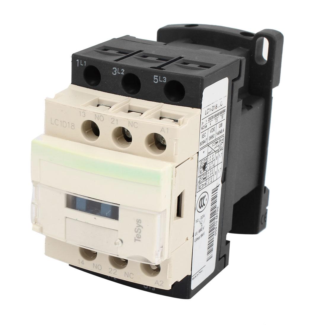 24V Coil Motor Controler AC Contactor 3 Pole 1NO 1NC 690V 32A