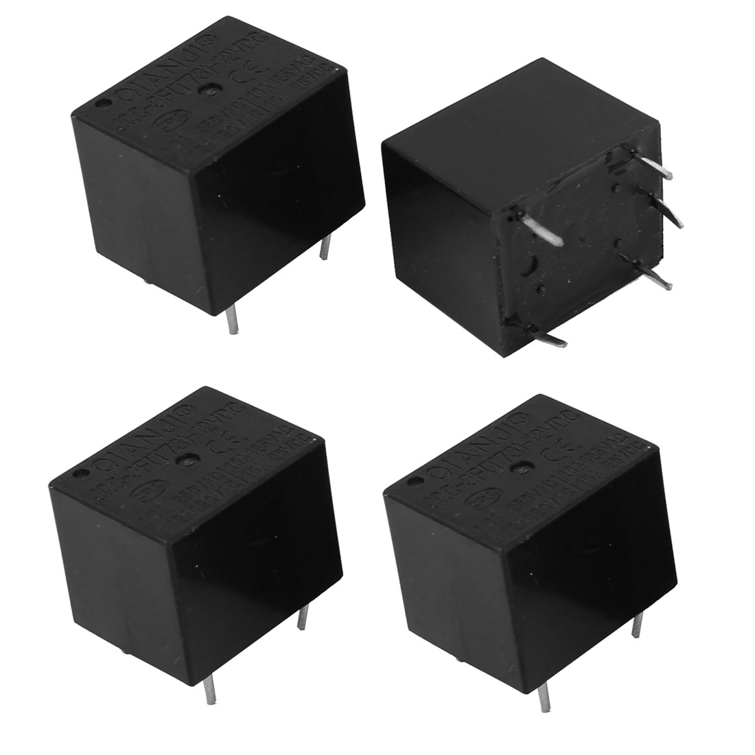 4 Pieces SPDT General Purpose Power Electromagnetic Relay DC 12V Coil