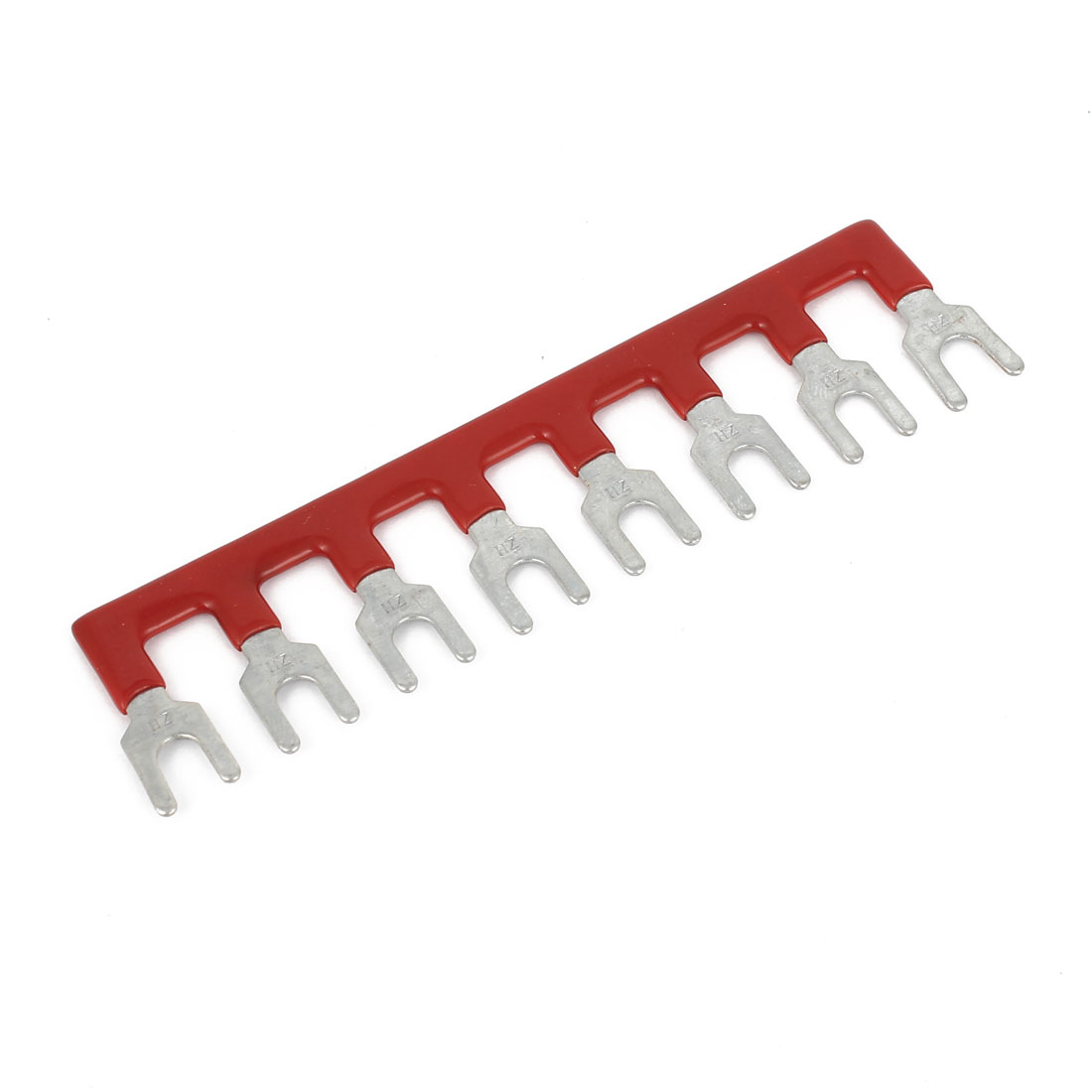 400V 10A 8 Positions Pre Insulated Terminal Stripes Block Barrier Stripe Red