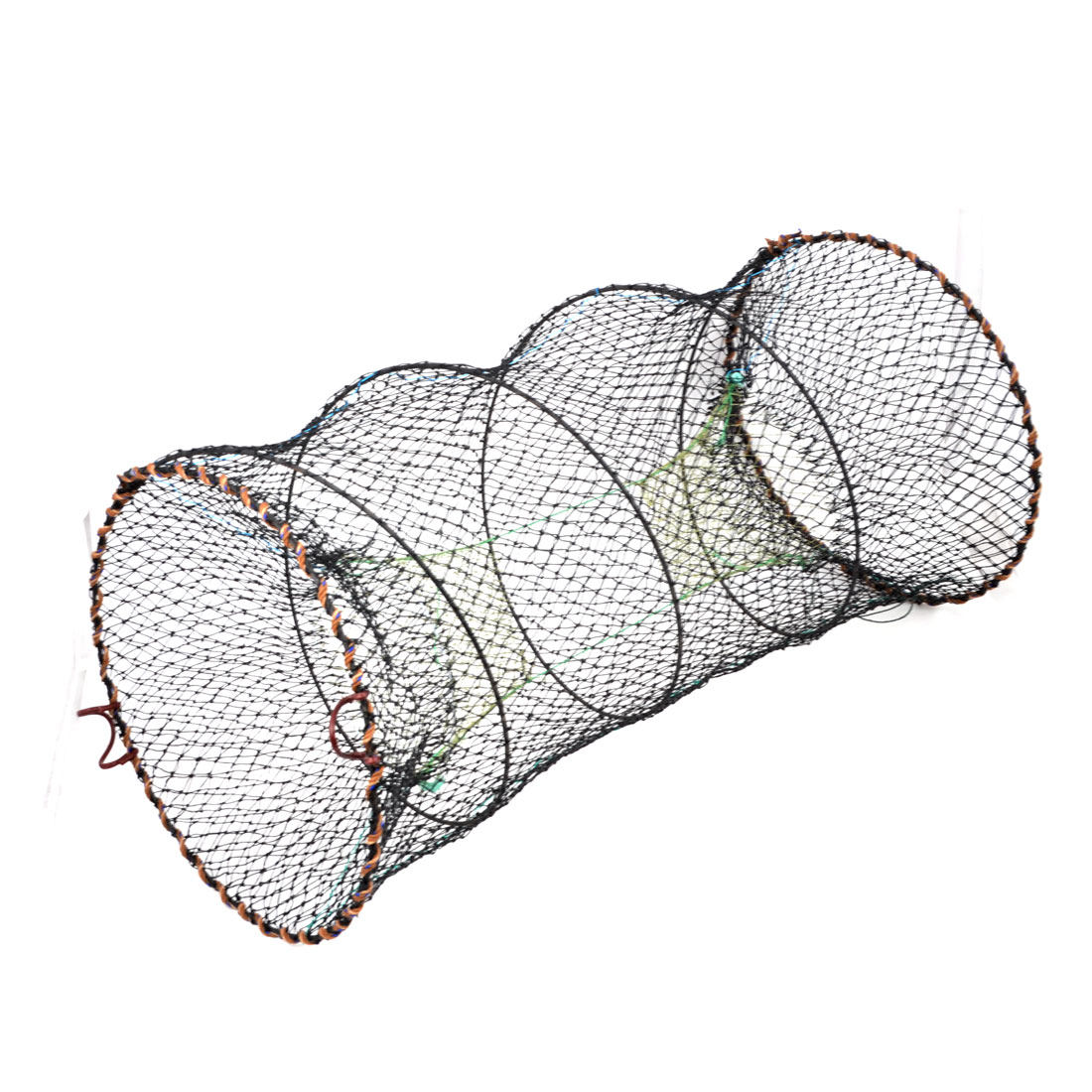 Metal Frame Foldable Nylon Mesh Spring Crab Fish Cage