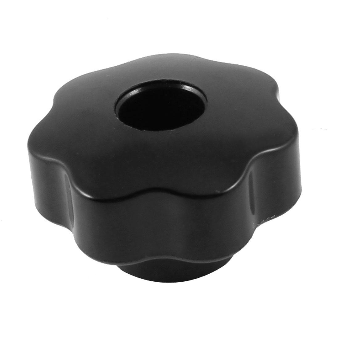 Black Plastic 7mm Female Thread 38mm Diameter Star Clamping Screw Knob