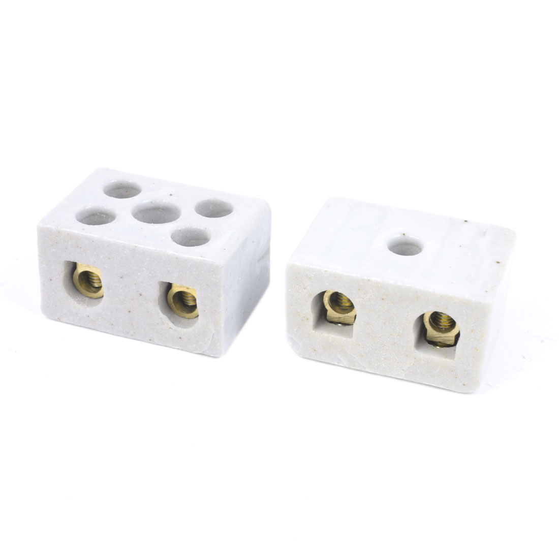 2pcs 15A 250V Insulation High Temp Ceramic Terminal Blocks 2W5H