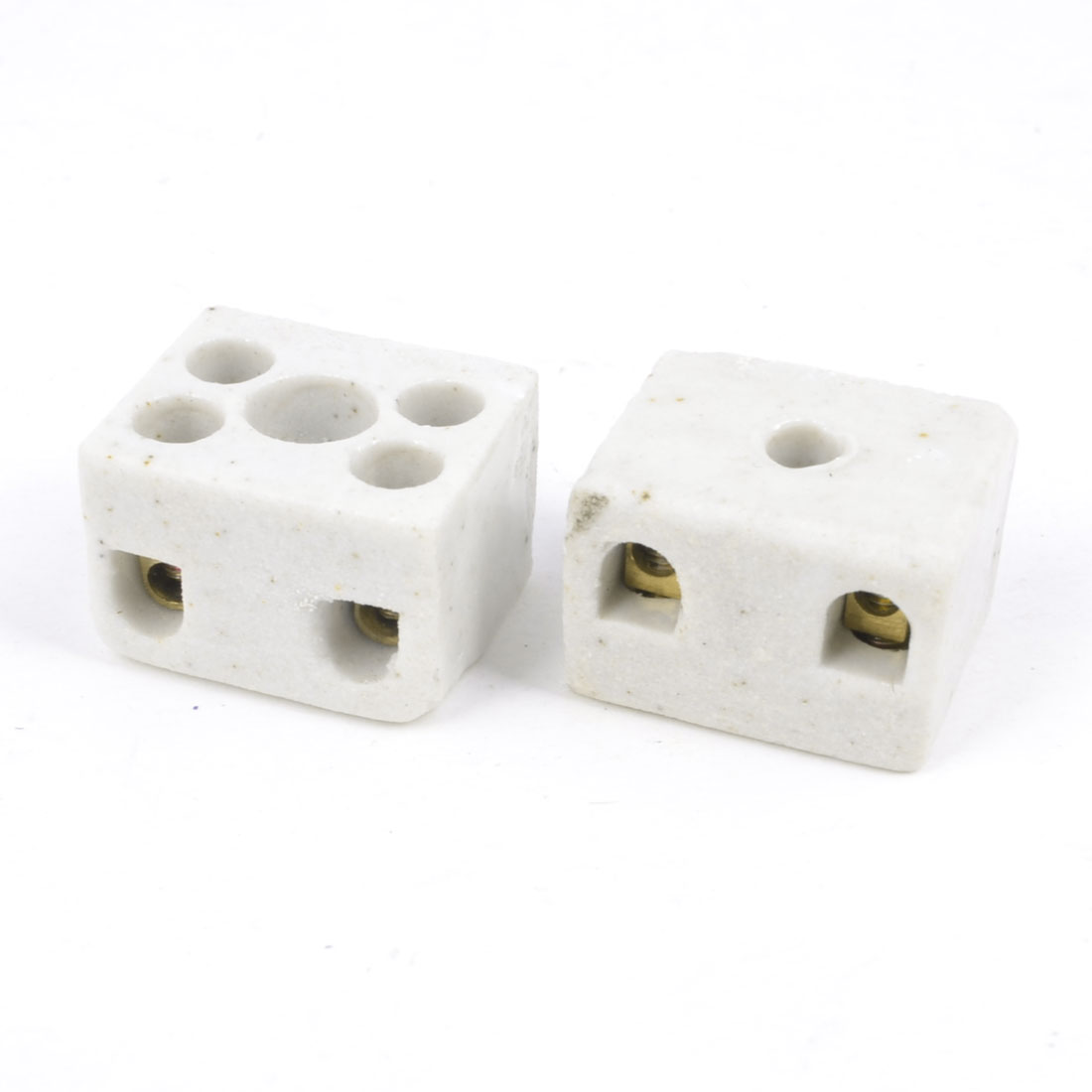 2pcs 5A White Insulation High Temp Ceramic Terminal Blocks 2W5H