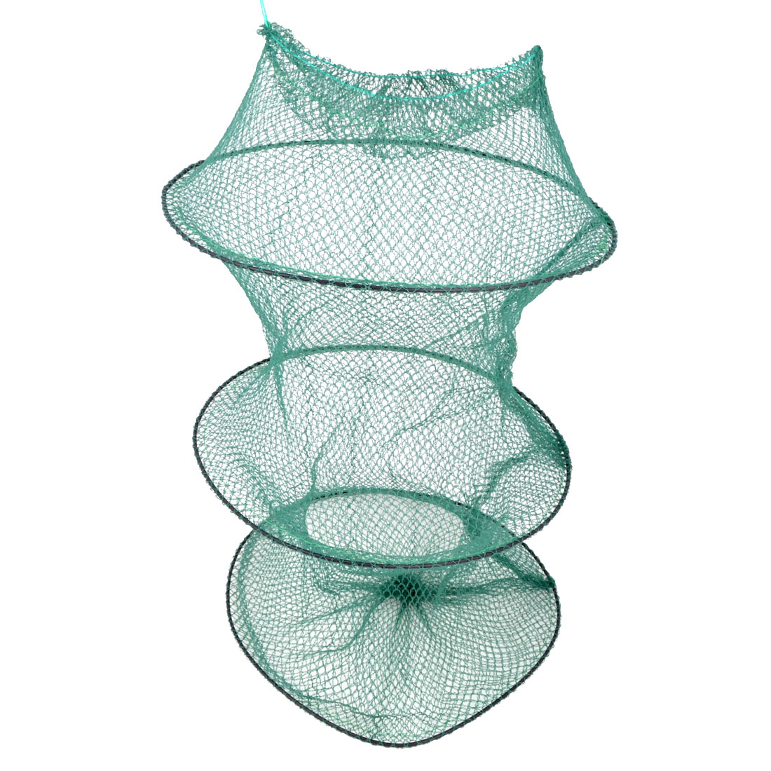 Army Green Nylon 2 Sections Foldable Fish Cage Fishing Net