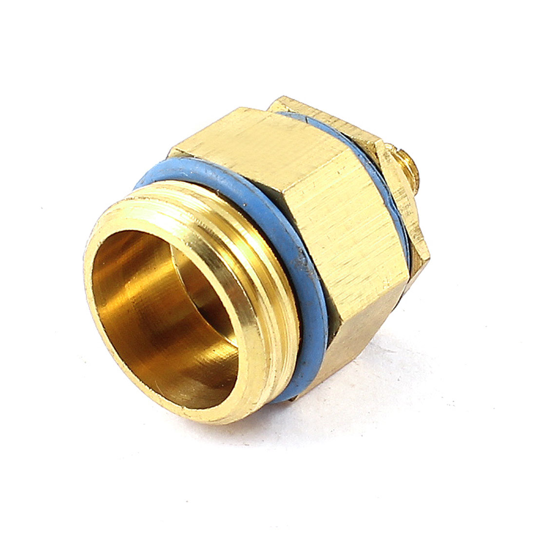 20mm Thread Gold Tone Blue 180 Degrees Spray Angle Nozzle for Garden