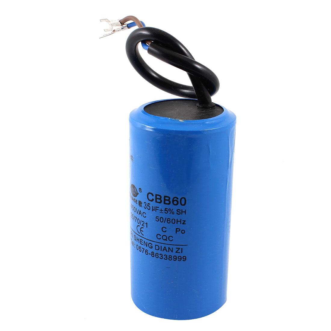 CBB60 AC 450V 35uF 50/60 Hz Polypropylene Film Motor Run Capacitor