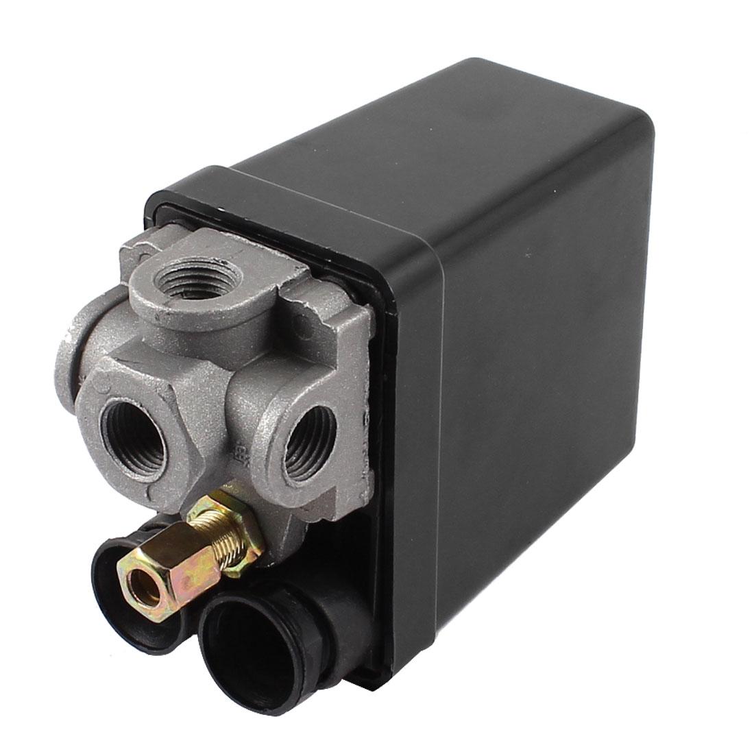 Air Compressor Pressure Switch Control Valve 175PSI 4-Port 1/4PT AC 240V 20A