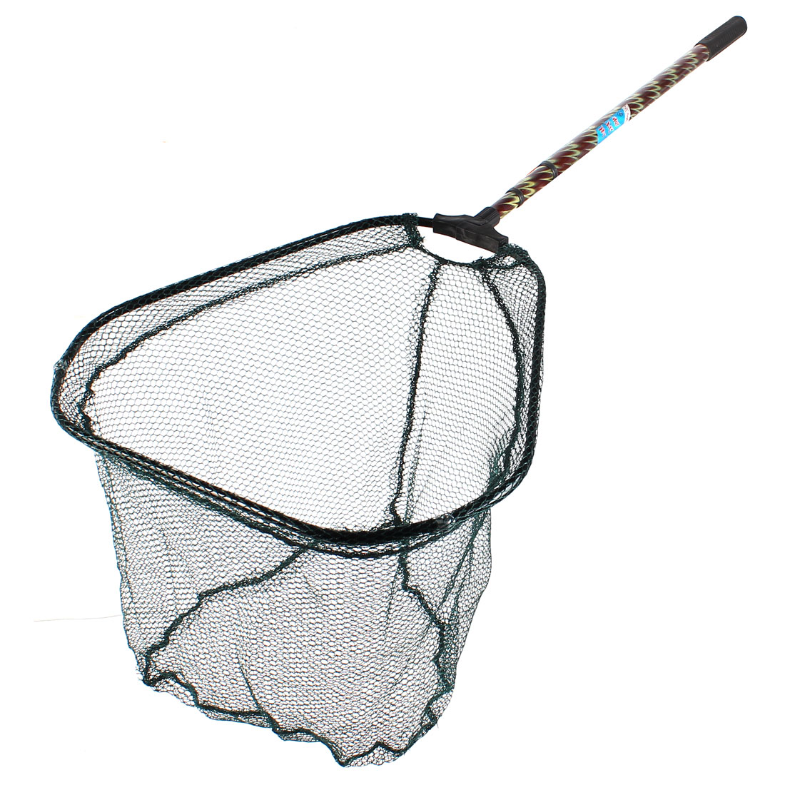 Retractable 3 Sections Nonslip Grip 41cm Width Frame Fish Landing Net