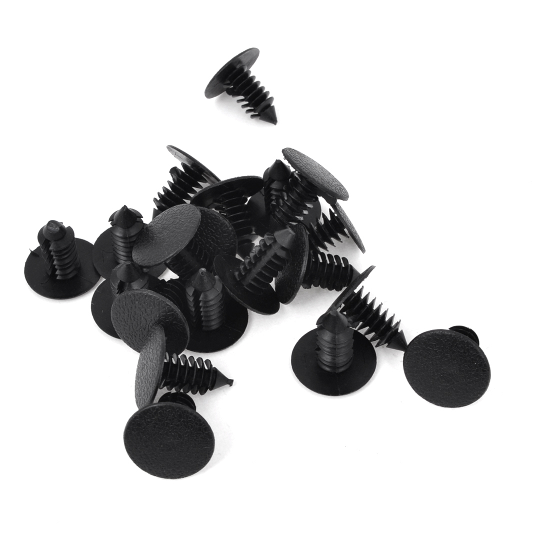 Car 8mm Hole Black Plastic Rivets Bumper Door Fastener Push Clips 20 Pcs