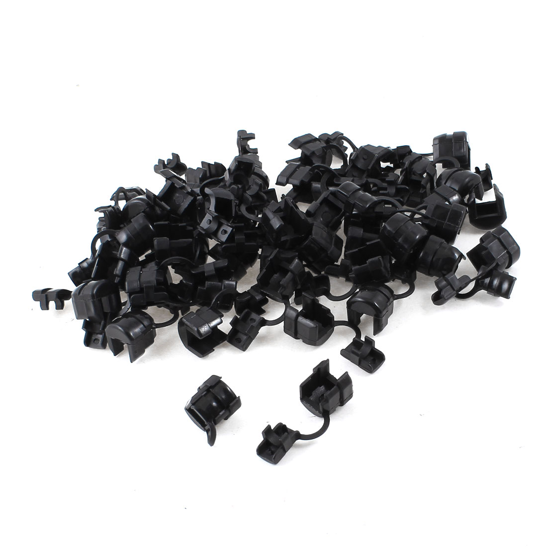 100 Pcs Black Nylon Wires Protectors Strain Relief Bushing for 4mm Round Cables