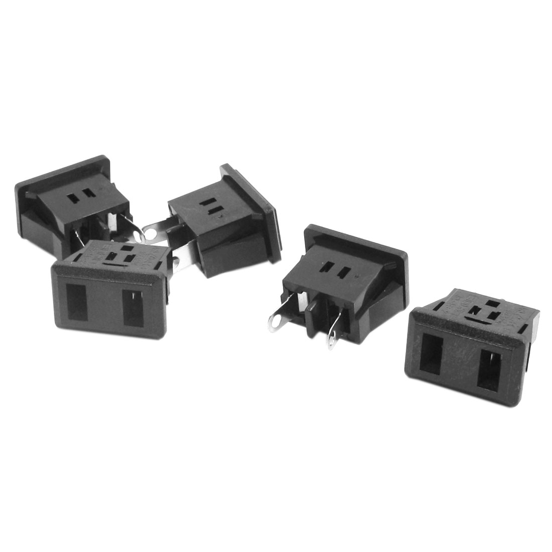 AC 125V 12A US Female Socket Jack Power Adapter Converter 5 Pcs