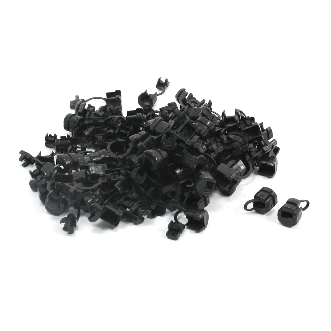 100 Pcs Wires Protectors Strain Relief Bushing for 4mm Width Flat Cables
