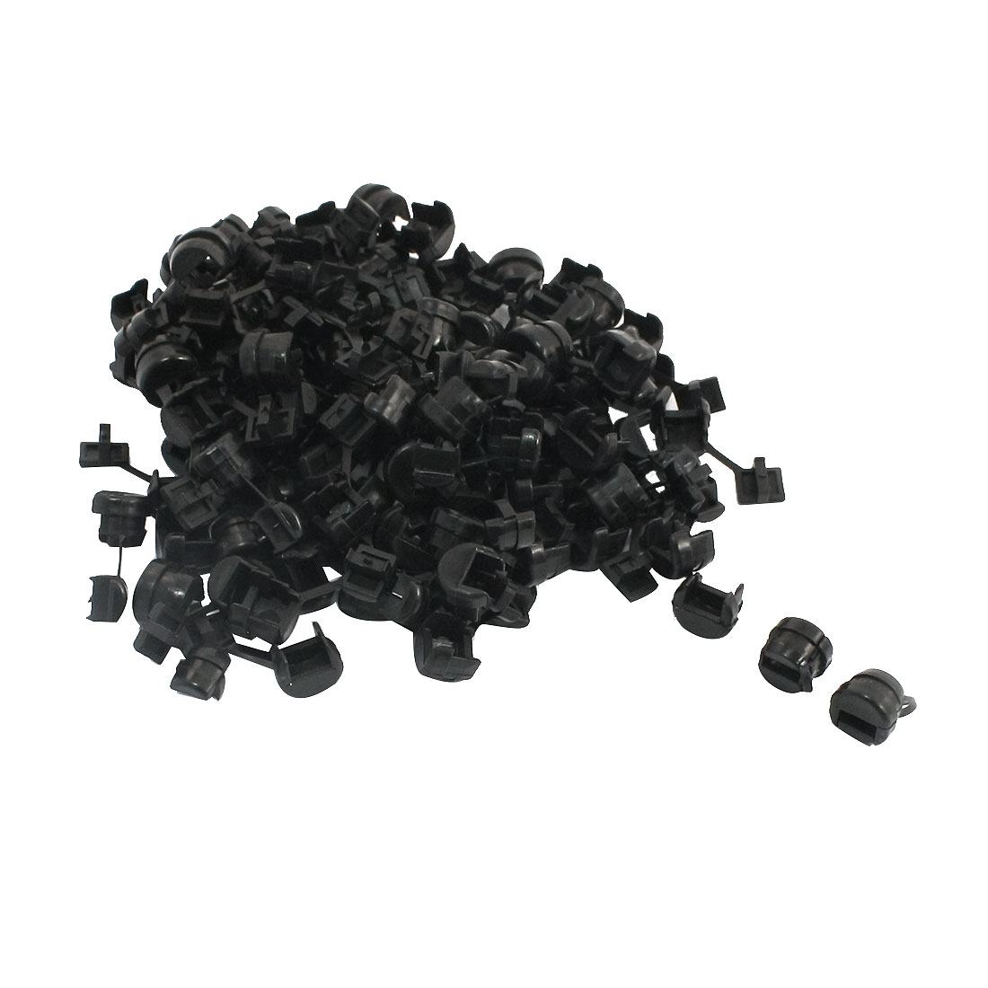 100 Pcs Wires Protectors Strain Relief Bushing for 7mm Width Flat Cables