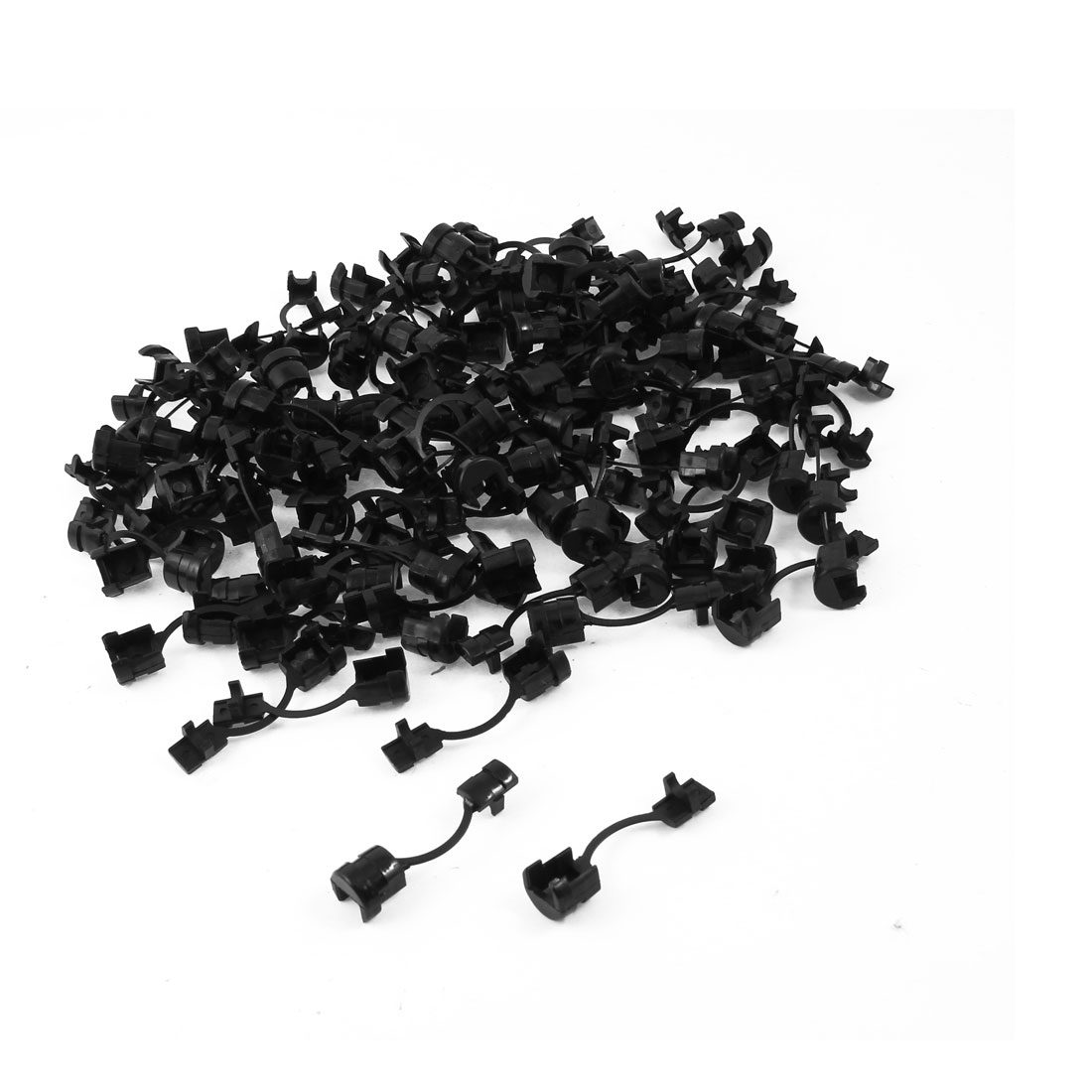 200 Pcs Black Cord Protectors Strain Relief Bushing for 5mm Round Cables