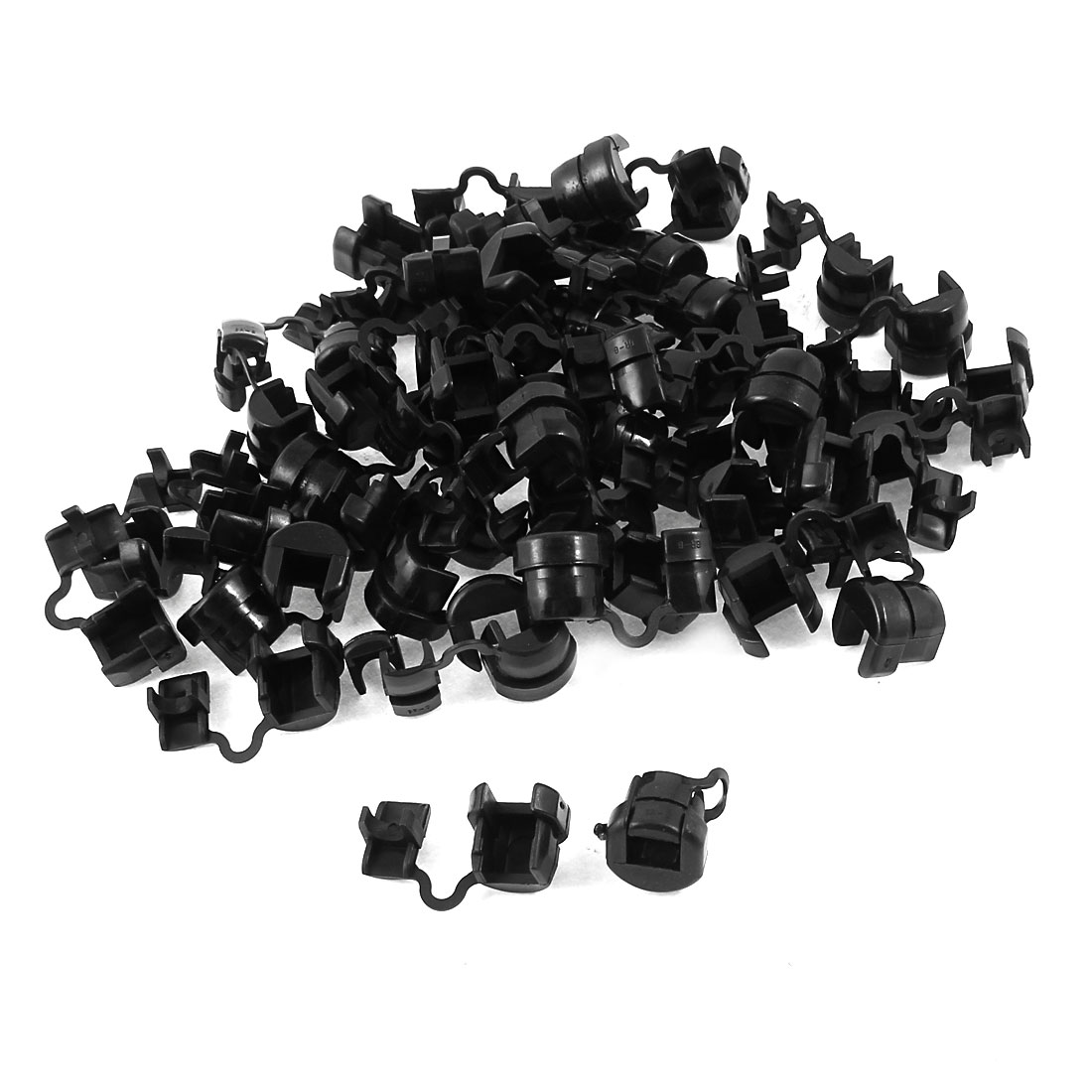 50 Pcs Black Wire Cord Protectors Strain Relief Bushing for 6mm Round Cables