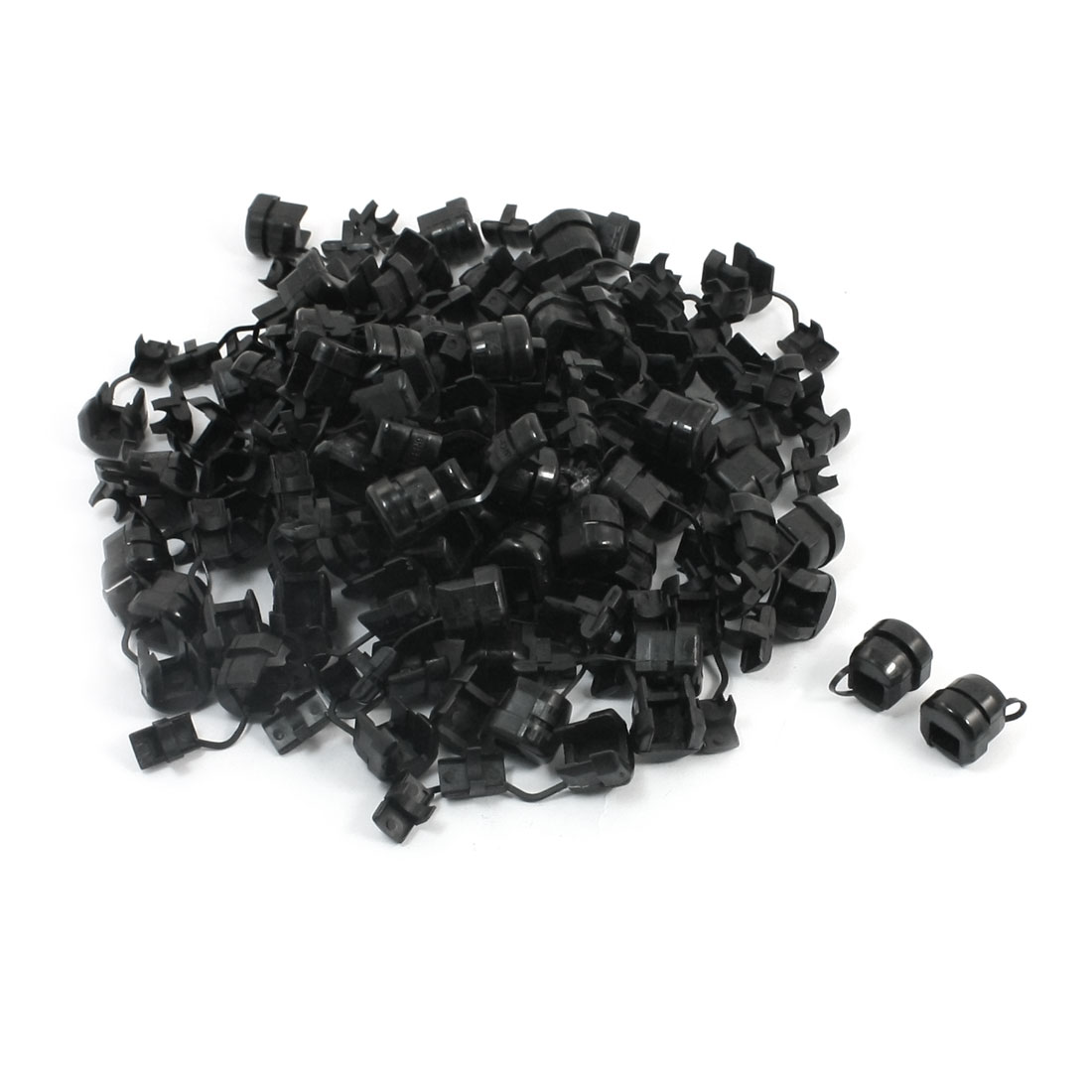 100 Pcs Wires Protectors Strain Relief Bushing for 8.2-9.2mm Round Cables