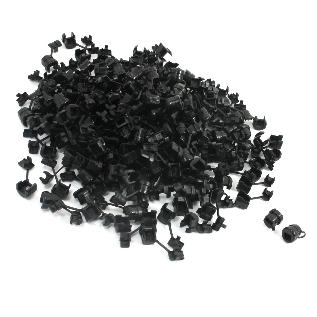 200 Pcs Black Nylon Wires Protectors Strain Relief Bushing for 4mm Round Cables