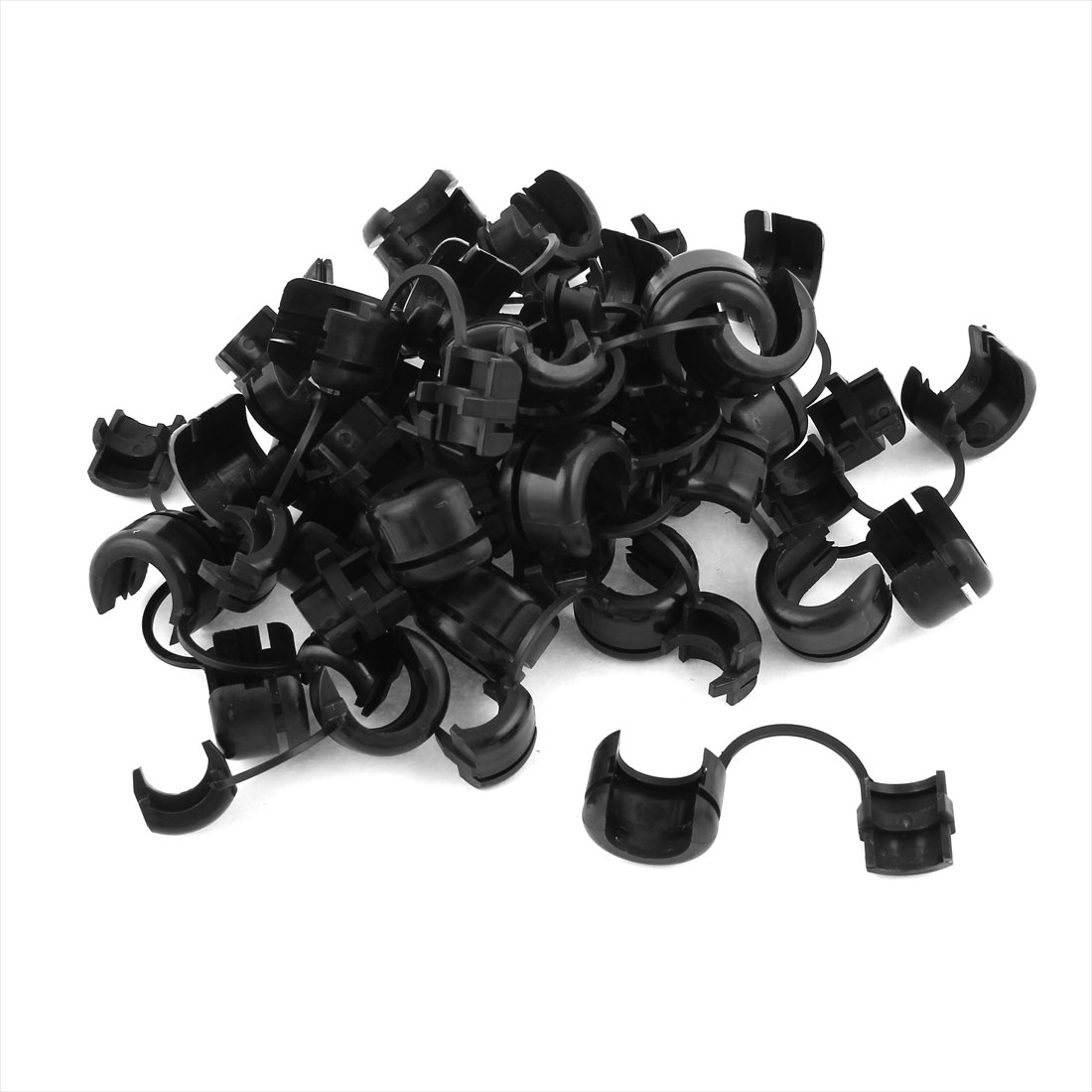 30 Pcs 12mm Dia Nylon Cable Cord Tie Fixed Clip Strain Relief Bushing