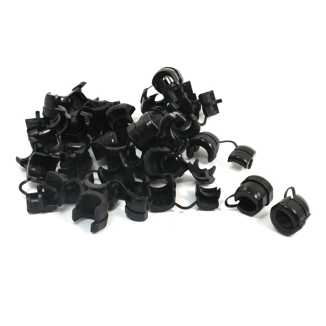 30 Pcs 13mm Diameter Nylon Round Wire Cord Clip Clamp Strain Relief Bushing