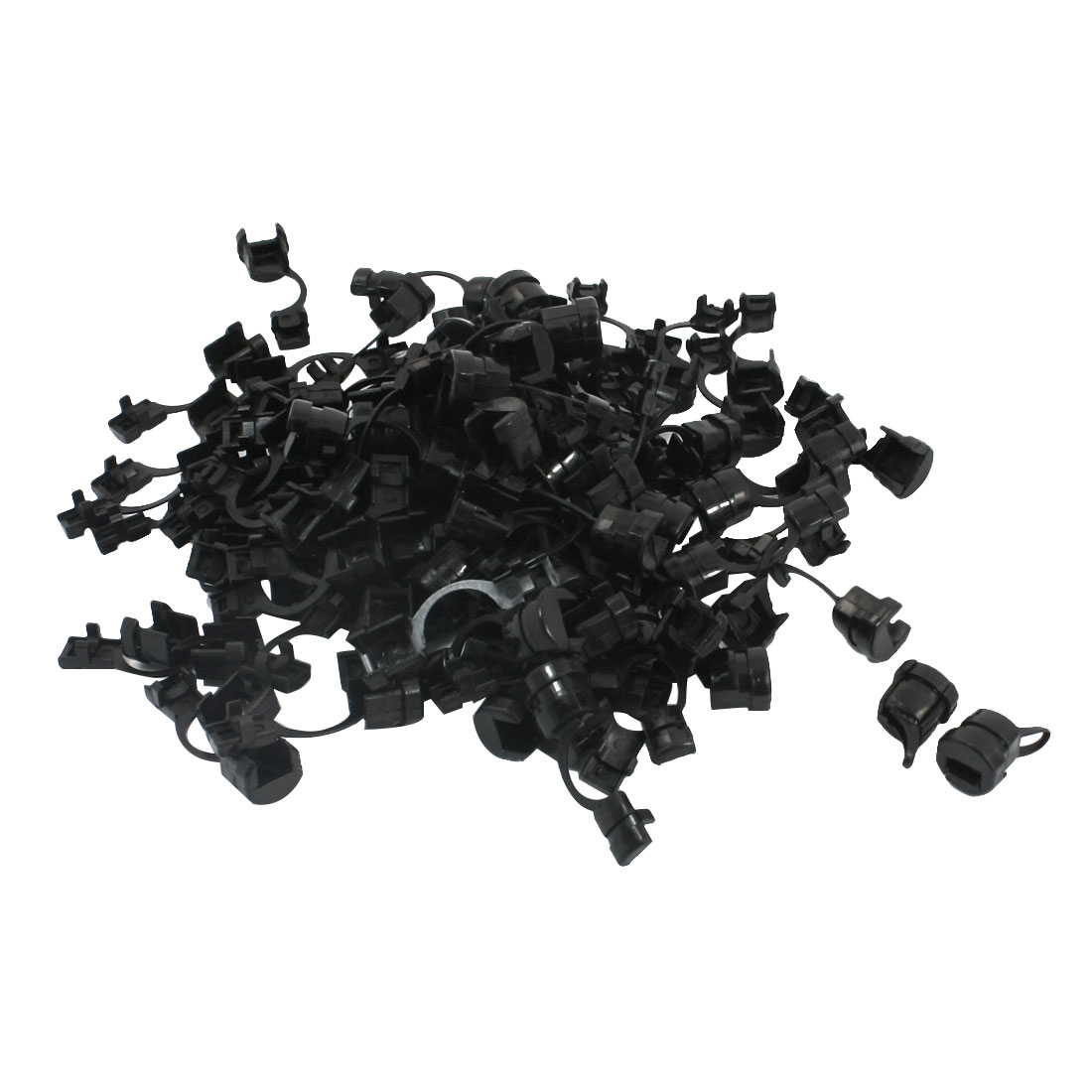 100 Pcs 5.5mm Width Nylon Wire Cord Clip Clamp Strain Relief Bushing