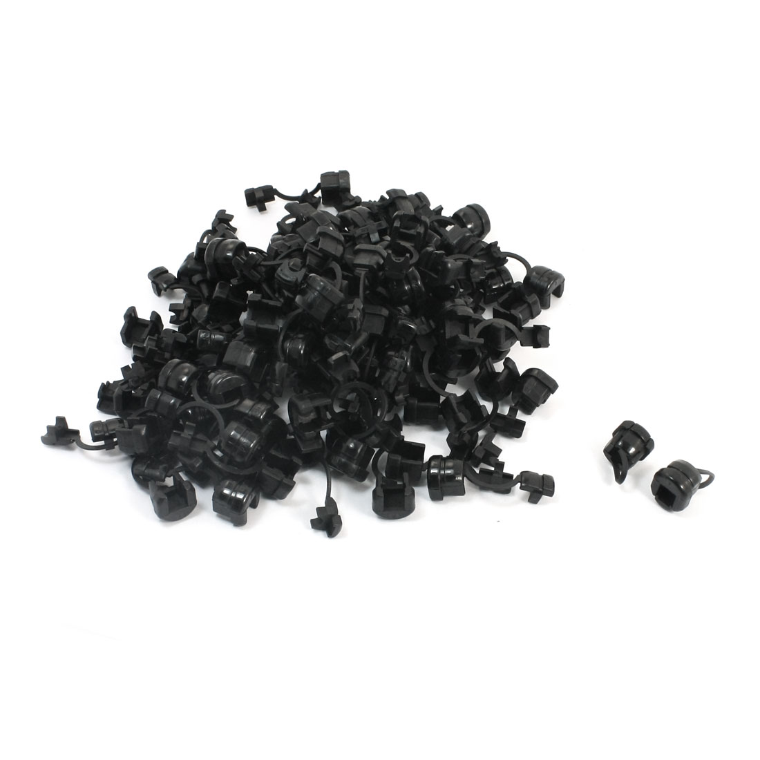 100 Pcs Nylon Wires Protectors Strain Relief Bushing for 4.5mm Round Cables
