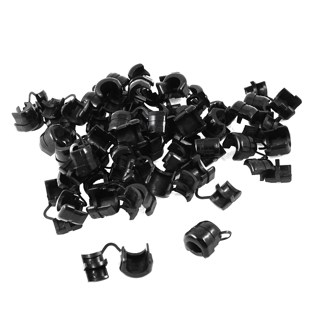50 Pcs Nylon Wires Protectors Strain Relief Bushing for 13mm Round Cables