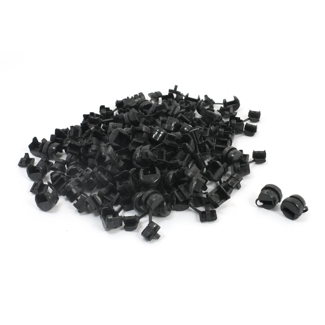 100 Pcs Wires Protectors Strain Relief Bushing for 6.5mm Width Flat Cables