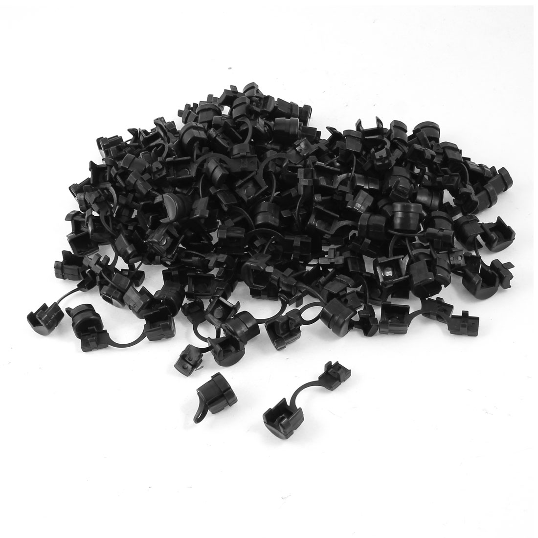 200 Pcs Black Nylon Wires Protectors Strain Relief Bushing for 5mm Width Flat Cables