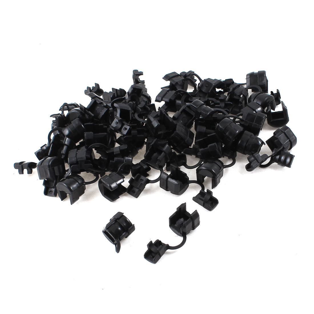 50 Pcs Black Nylon Wires Protectors Strain Relief Bushing for 6mm Round Cables