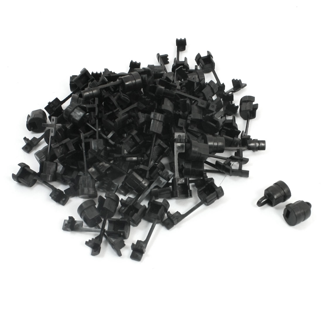 100 Pcs 1mm Width Dual Flat Cables Wires Protectors Strain Relief Bushing