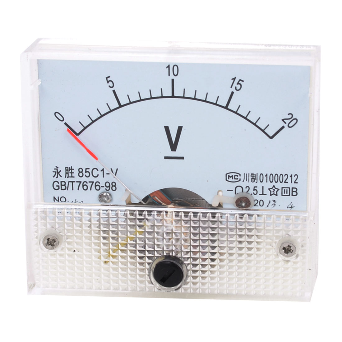 85C1-V DC 0-20V Rectangle Analog Panel Volt Meter Voltmeter Gauge
