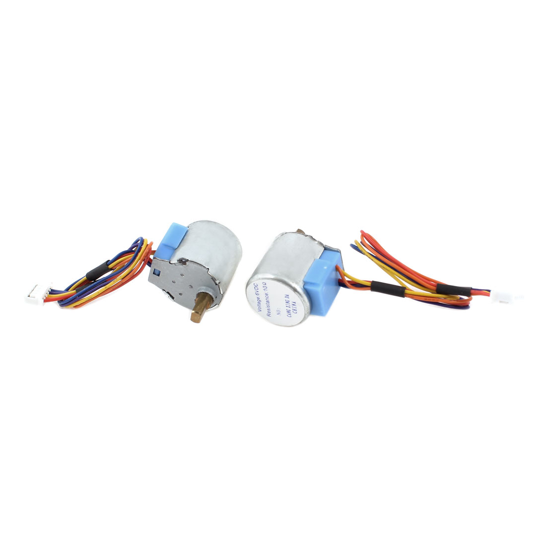 2 Pcs DC 6V 4.95x10mm Shaft 1000PRM 4-Phase 5-Wire Reducing Stepping Stepper Motor