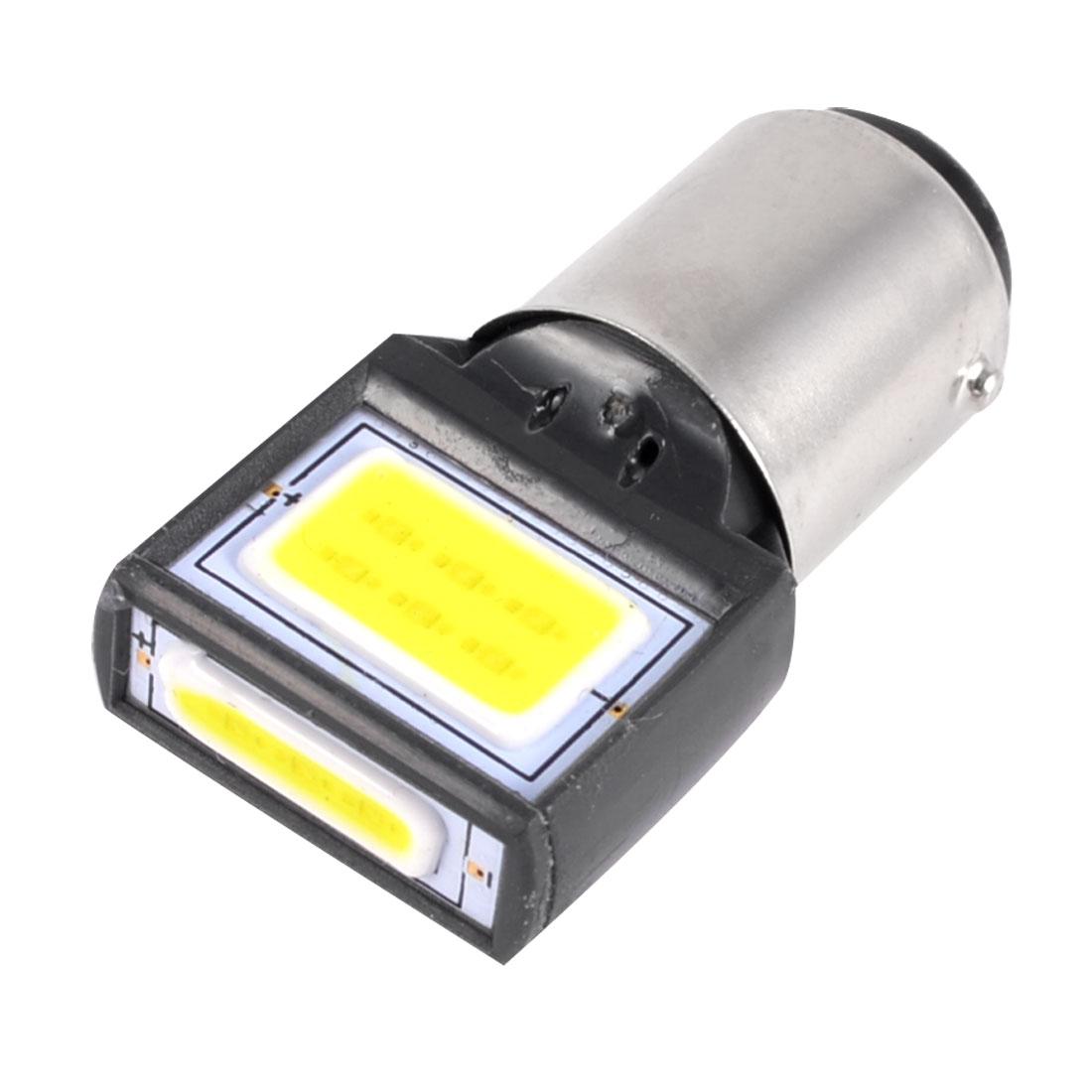 White 1157 BAY15D 8W COB LED Tail Brake Stop Turn Light Bulbs 12V