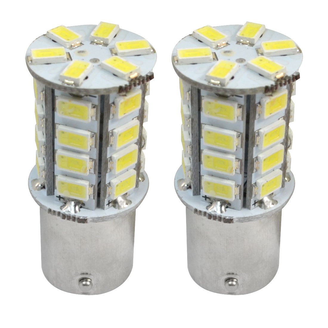 Pair BA15S 1156 30 5630 SMD LEDs Braking Bulb Stop Light Strob Flash White for Car