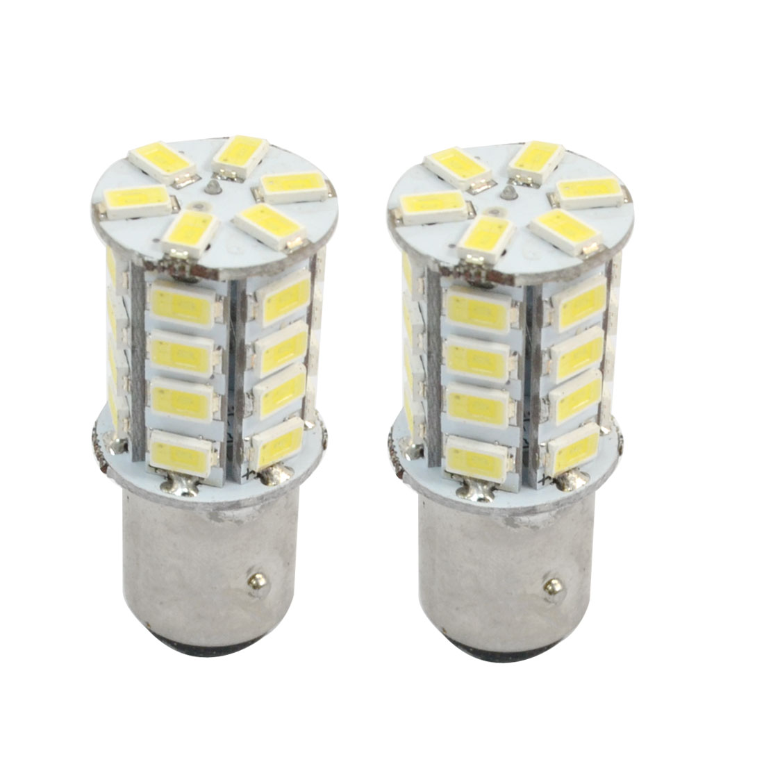 Pair 1157 BAY15D 30 5630 SMD Strob Flash White LED Turning Tail Light Bulb for Auto