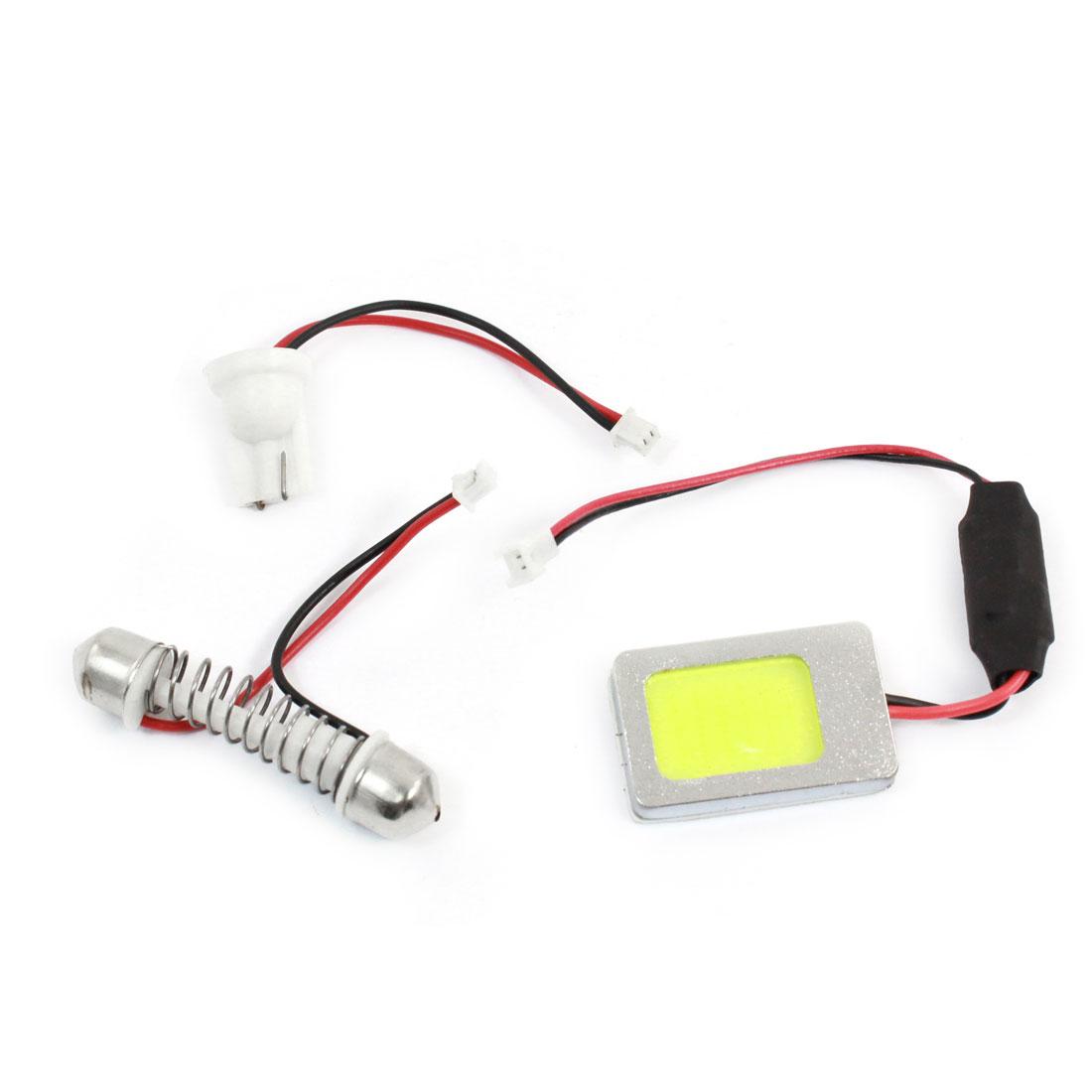 Car 12V 18 COB Lamp Dome Light Panel White + T10 Festoon Adapter internal