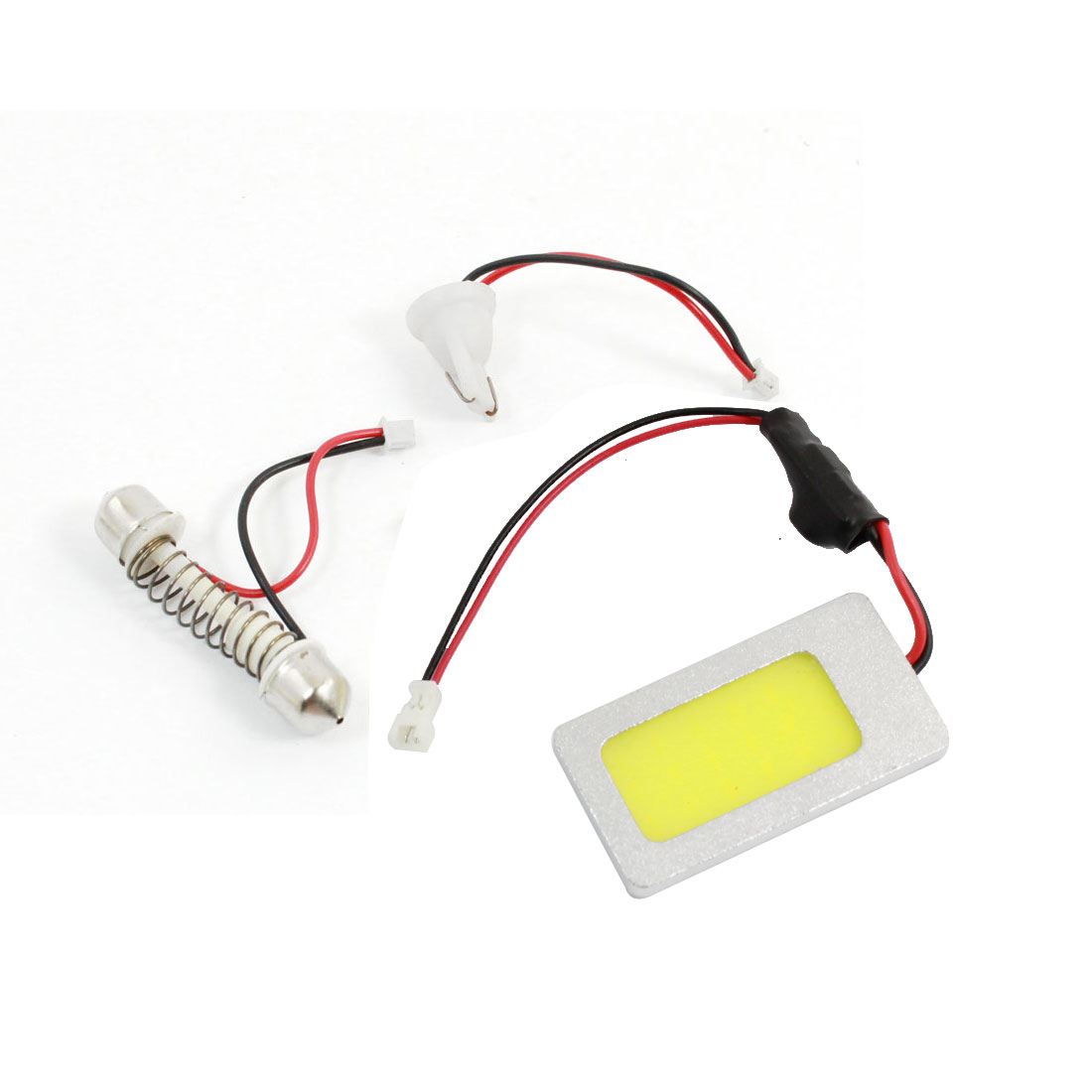 Auto White 18 COB Map Reading Dome Lamp Panel + T10 Festoon Adapter internal