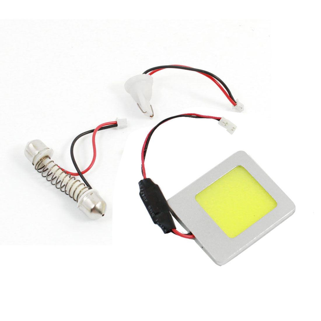 Auto 48 LED Panel COB Dome Light Map Reading Lamp White w T10 Festoon Adapter internal