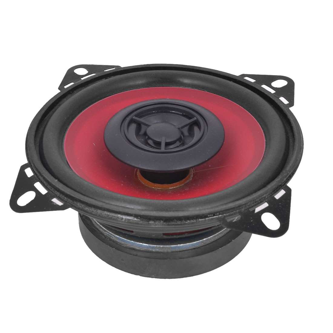 "4"" Diameter Audio 85dB Coaxial Car Speakers 20 Watt Black Red"