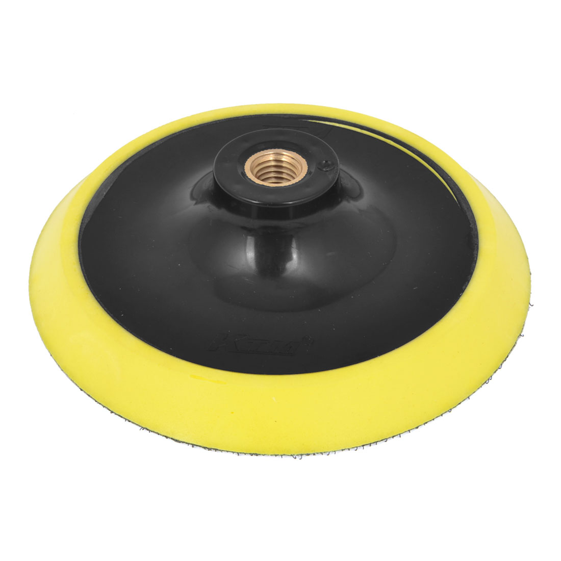 "Black Yellow Foam Plastic 6"" Dia Round Buffing Polishing Wheel Cleaner for Auto"