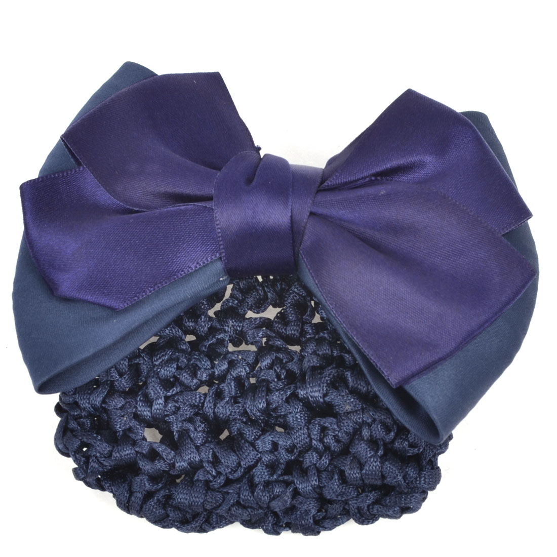 Office Lady Hair Tools Blue Bowknot Mesh Style French Clip Hairnet