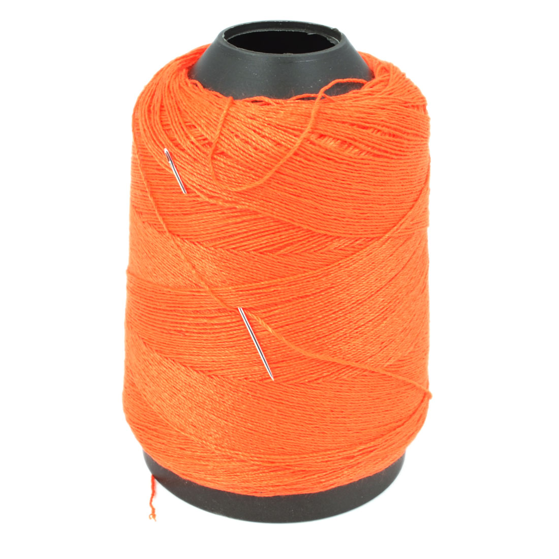 Tailor Quilting Stitching Orange Red Cotton Sewing Thread Spool w Needle